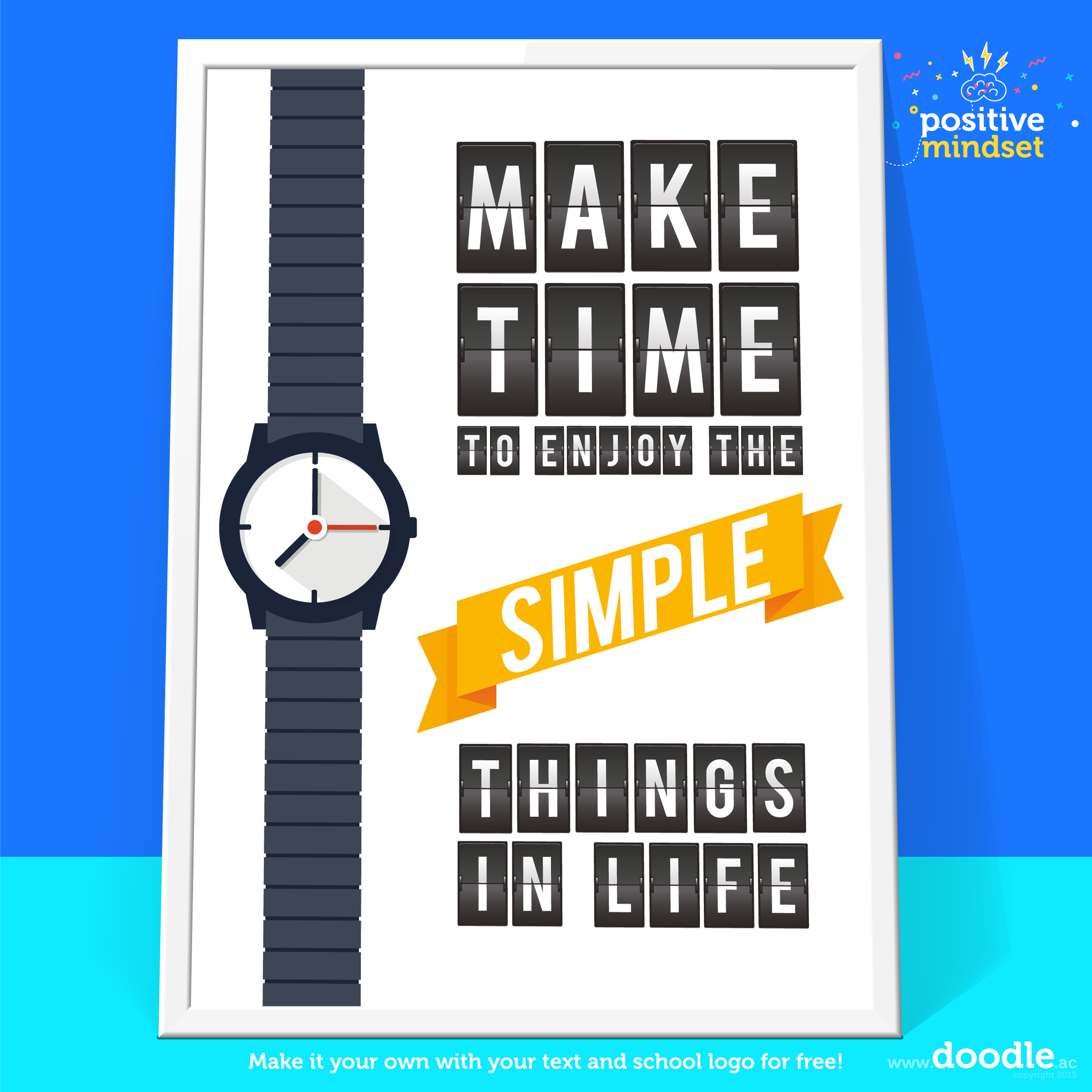 make time to enjoy poster - doodle education