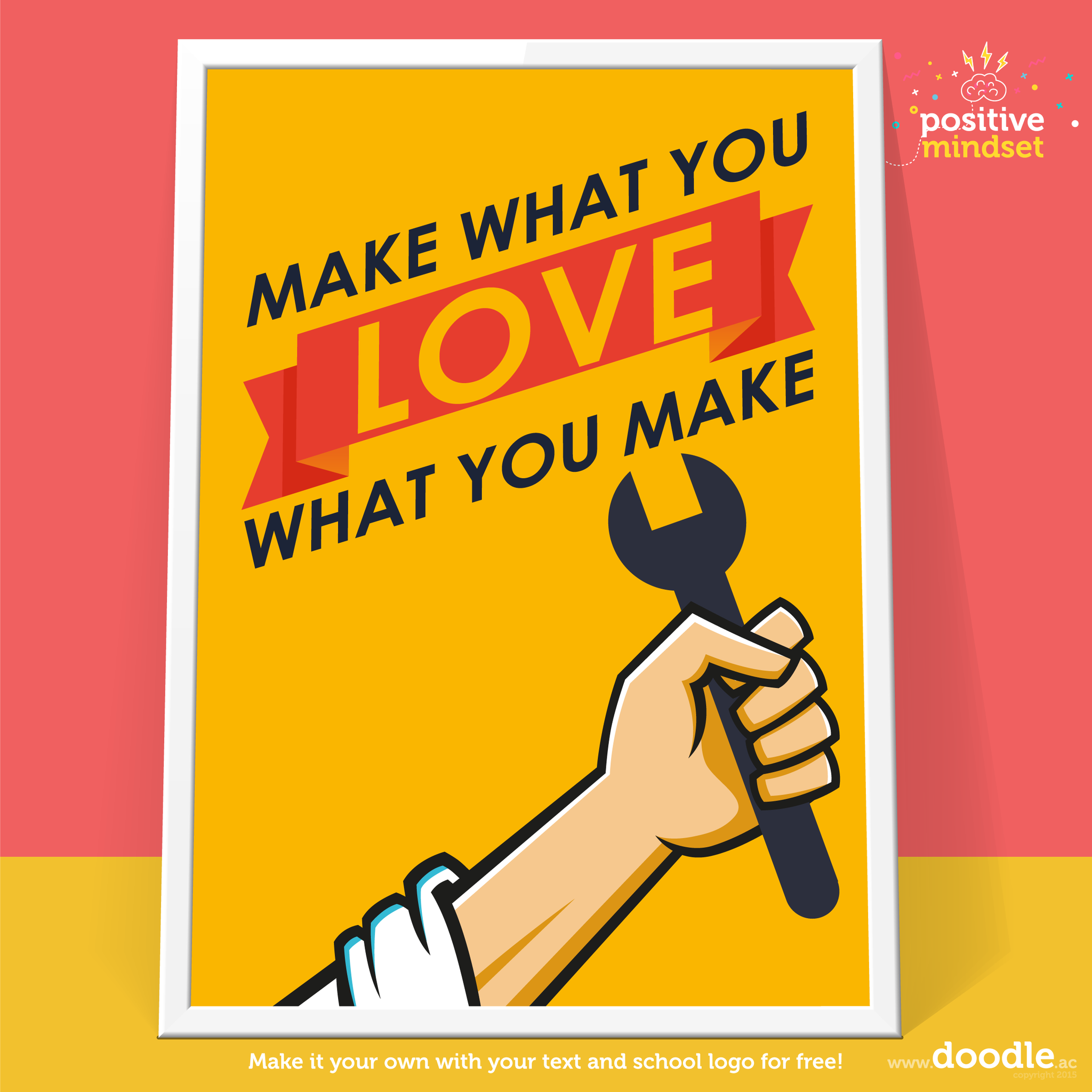 Make what you love poster - doodle education