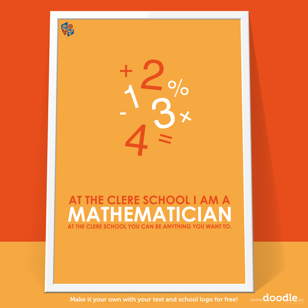 I am a mathematician poster