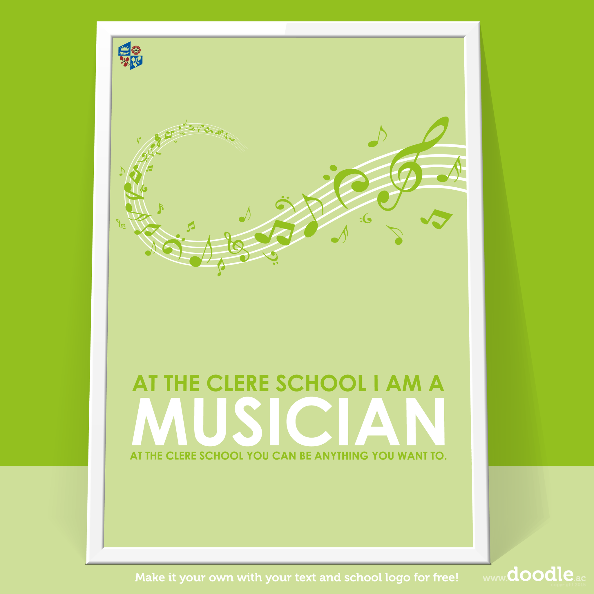 I am a musician poster - doodle education