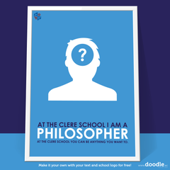 I am a philosopher poster - doodle education