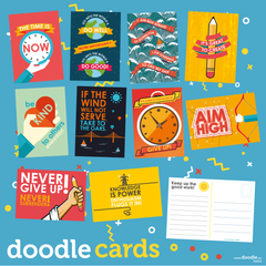 positive thinking doodle cards - doodle education