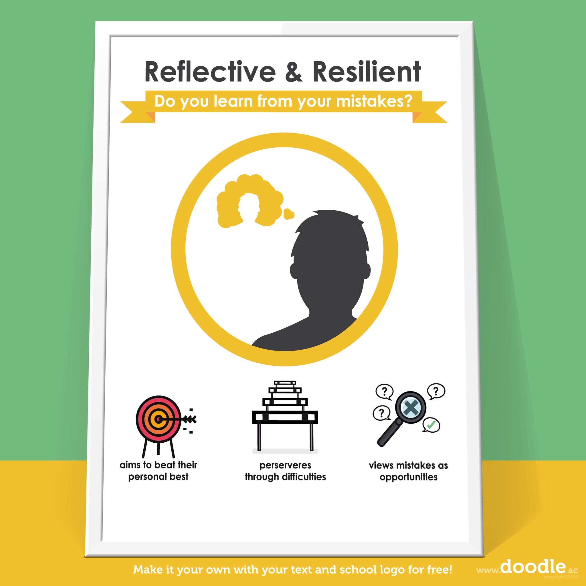 reflective poster - doodle education
