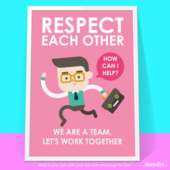 respect each other poster - doodle education