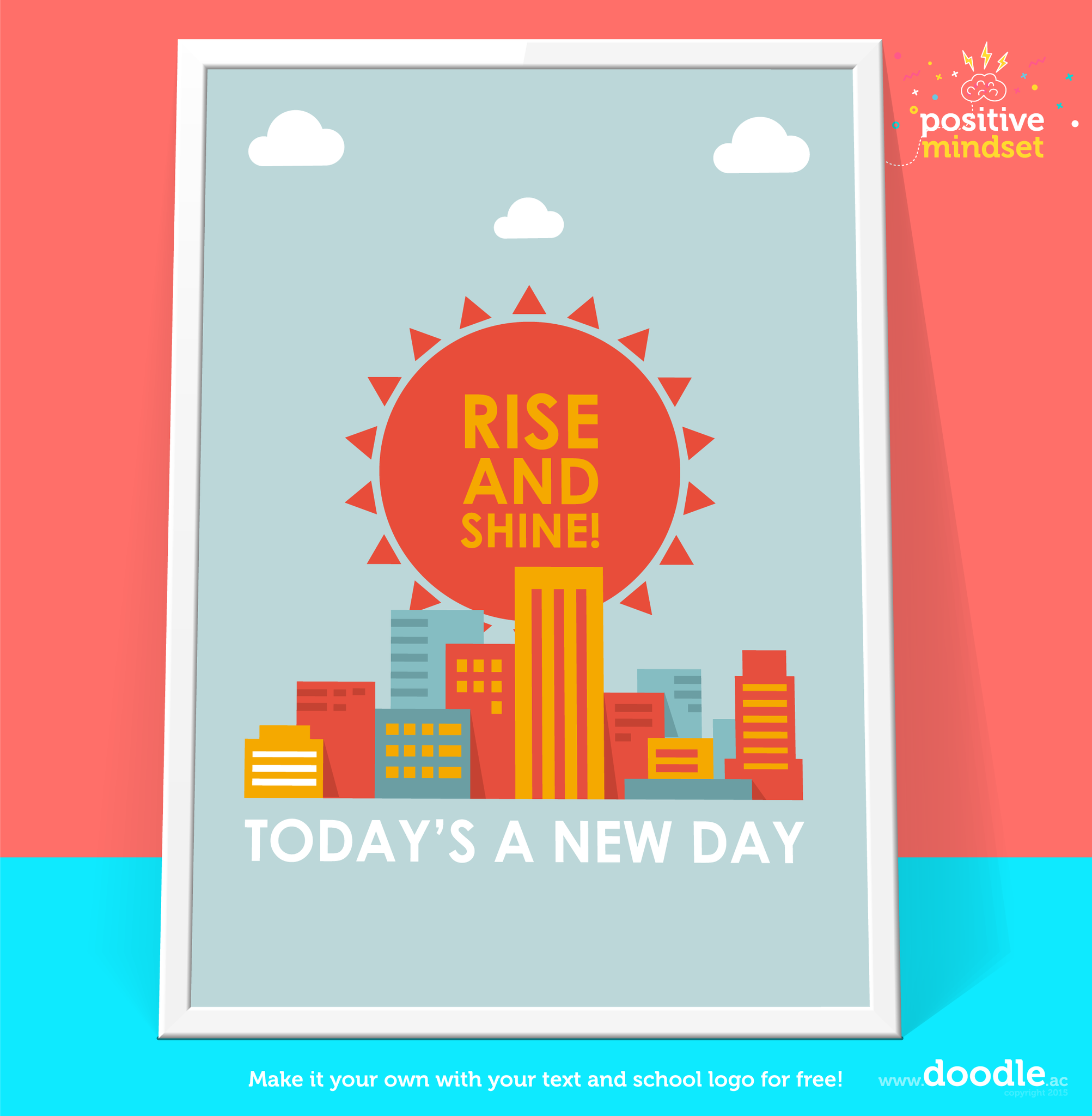Rise and shine poster - doodle education