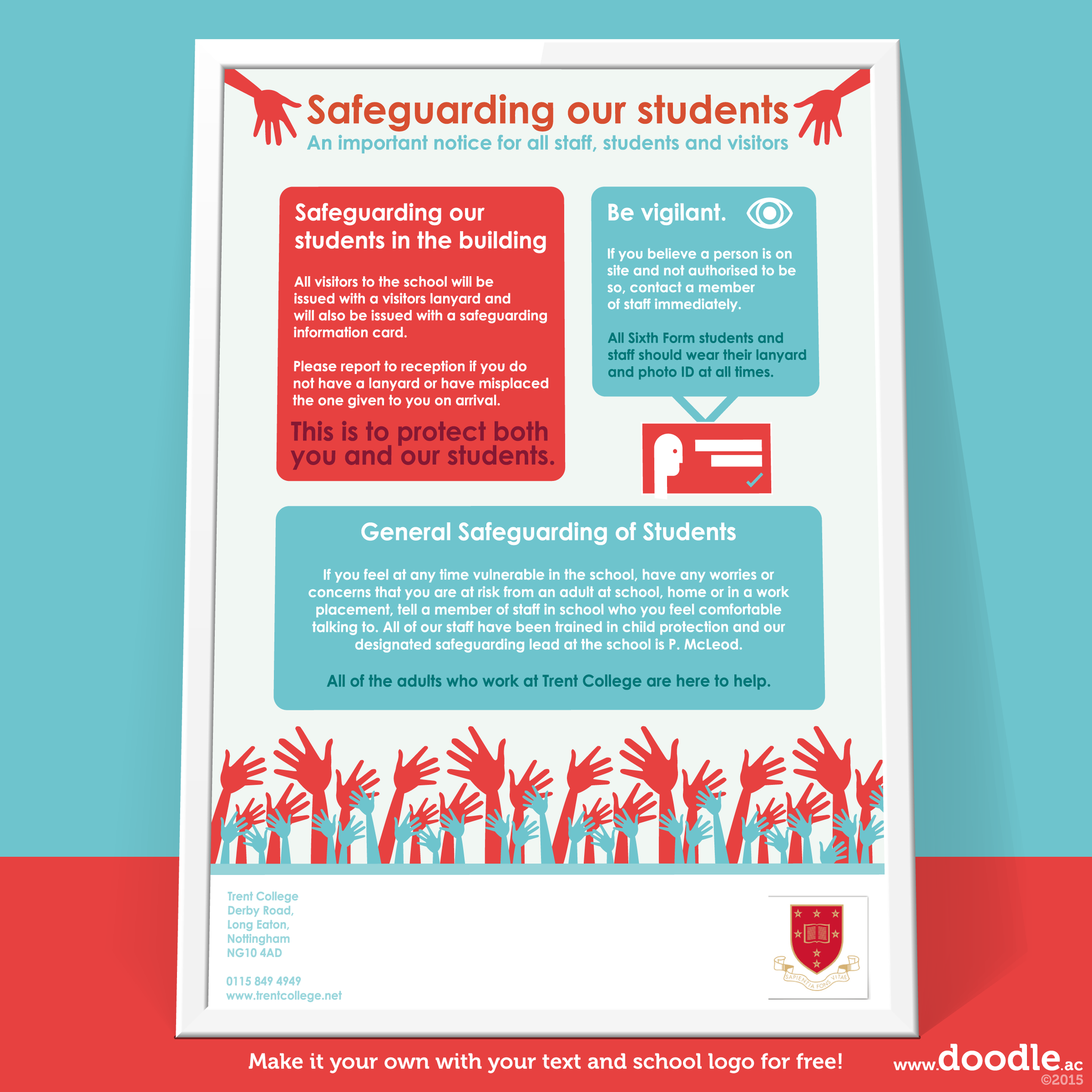 Safeguarding our students poster - doodle education