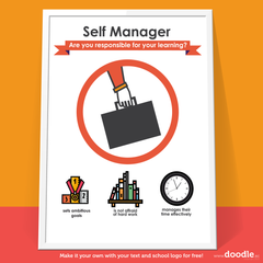 self manager poster - doodle education