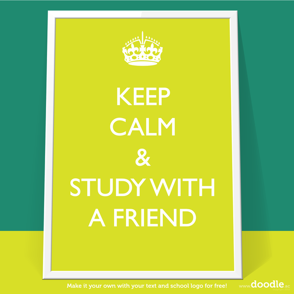 study with a friend poster