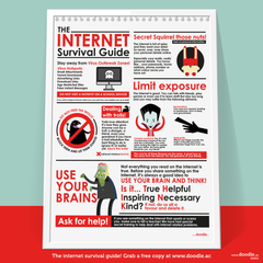 The internet survival guide poster - doodle education