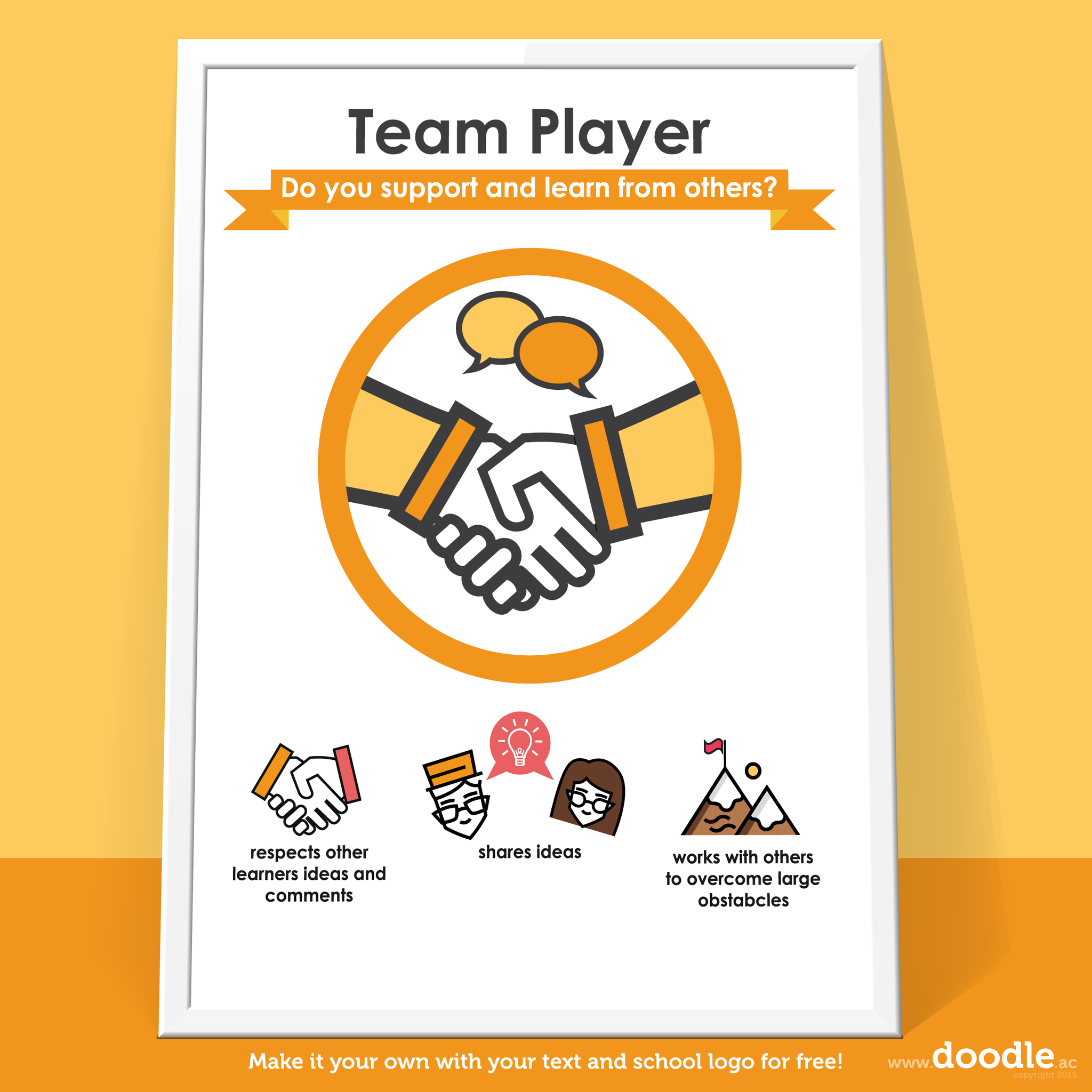 team player poster - doodle education