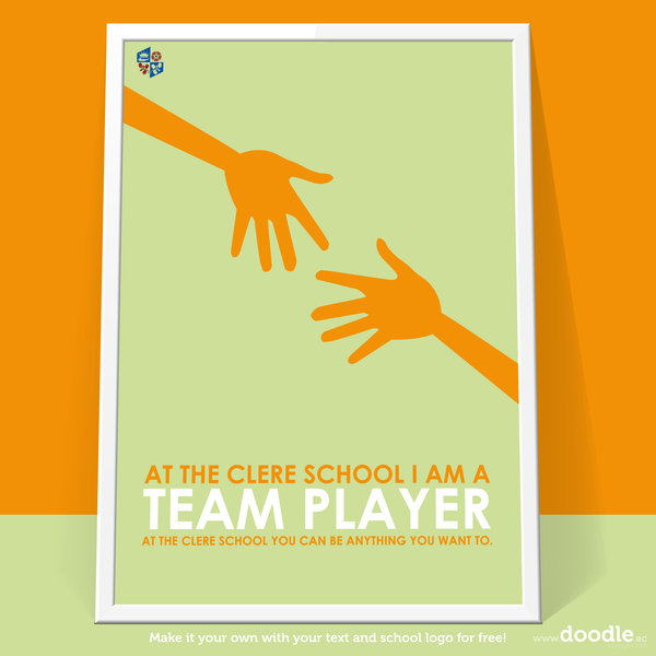 I am a team player poster