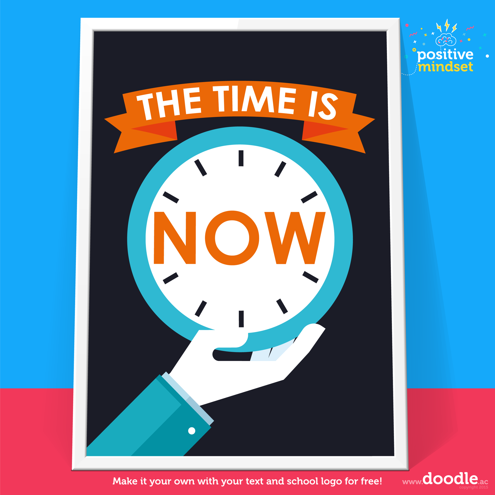 The time is now poster – doodle