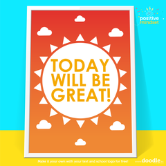 Today will be great poster - doodle education
