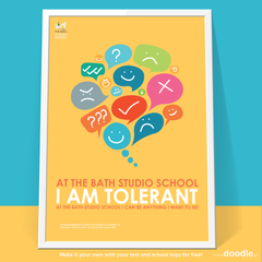 I am tolerant - doodle education