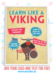 be a viking learner poster - doodle education