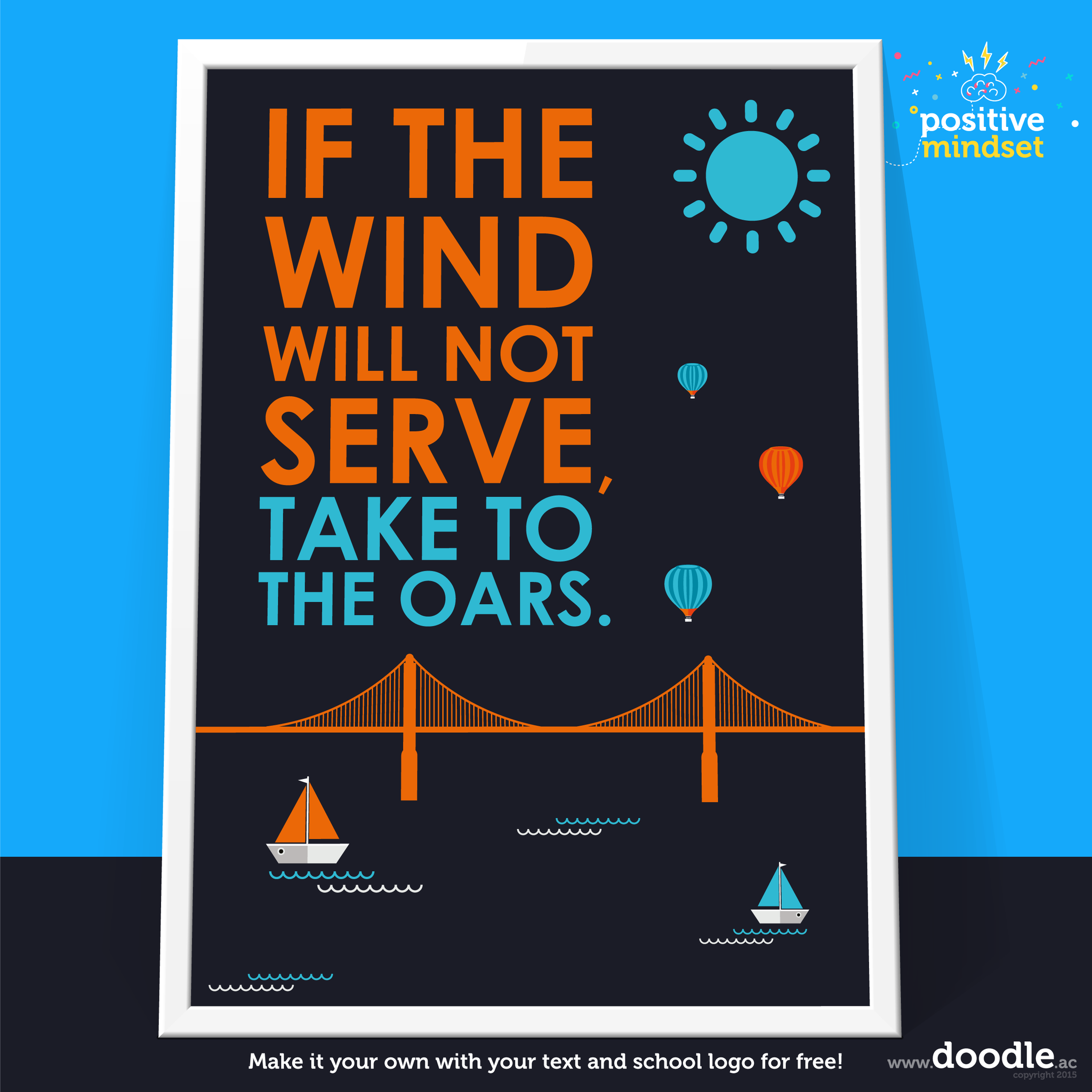 Take to the oars poster - doodle education