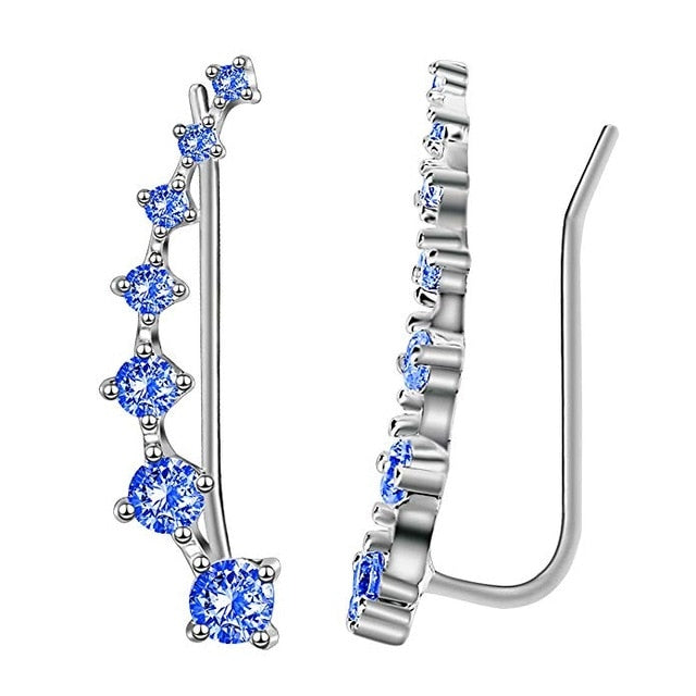Reeti New High Quality Super Shiny Zircon 925 Sterling Silver Earring Qbexe