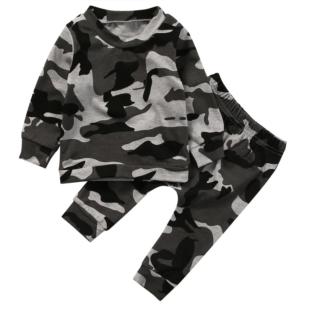 6d3c5f1ec03f4 2pcs new baby clothing set Toddler Infant Camouflage Baby Boy Girl Clothes  T-shirt Tops+Pants Outfits Set