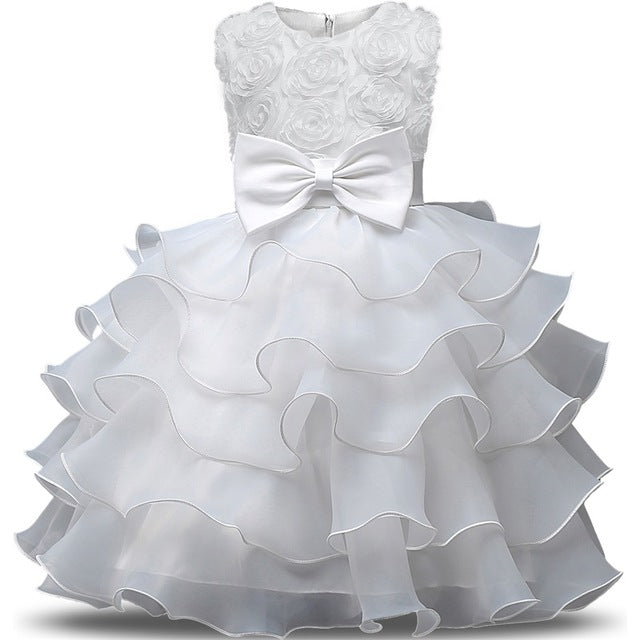 baee46a2b Flower Girl Dress For Wedding Baby Girl 3-8 Years Birthday Outfits  Children's Girls First Communion Dresses Girl Kids Party Wear