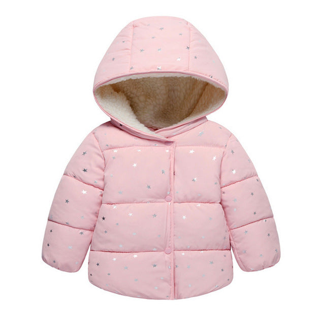 24377dd2e258 Baby Girls Jacket 2017 Autumn Winter Jacket For Girls Coat Kids Warm ...