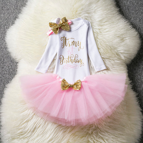 73dc3c731fd3f 1 Years Birthday Toddler Girl Baptism Dress Christams Costumes ...