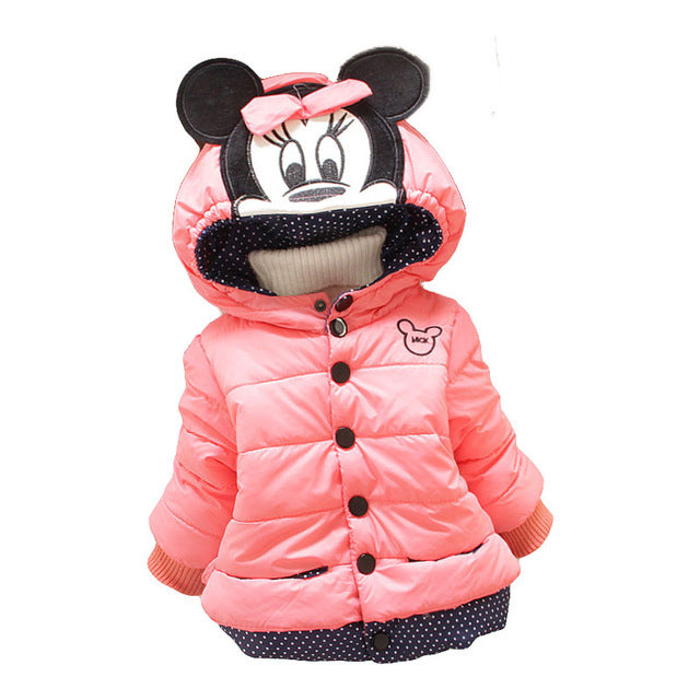 48759050d Winter Baby Girls Coats Jackets Infants Outerwear Cotton Hooded ...
