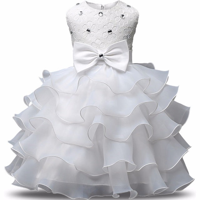 70e6c34b6 Flower Girl Dress Summer 0-8 Years Floral Baby Girls Dresses Vestidos 9  Colors Wedding Party Children Clothes Birthday Clothing