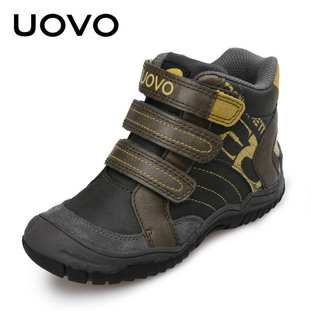 39a722b2d669 2018 UOVO New Arrival Mid-Cut Children Boys Sport Shoes Outdoor Shoes Casual  Sneaker for ...