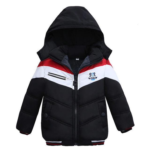 abb4a8294 LZH Baby Boys Jacket 2017 Winter Jacket For Boys Bees Hooded Down ...