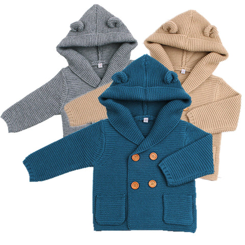 9791400dac0a 2018 Cute Newborn Infant Baby Girl Knitted Sweater Baby Boy Sweaters ...