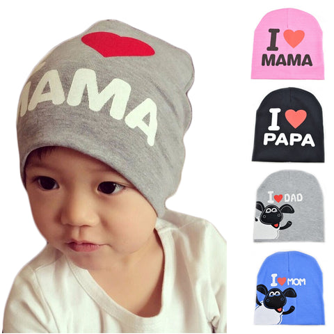 6e17cd7ee2d 2018 Spring Autumn Baby hat Knitted Warm Cotton Beanie Baby winter Hat cap  For Toddler Baby Kid Girl Boy MAMA Prints Baby Hat