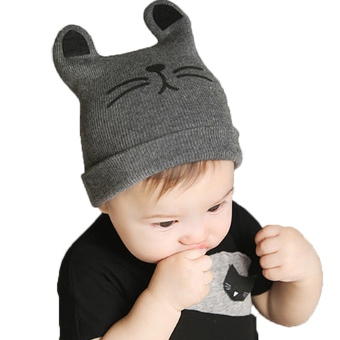 3a7e1e62e9e 2018 Autumn Winter 0-12months Baby Hat Cotton Beanie Cap Toddler Infant Baby  Girls and Boys Knitted Hats GH119 Kids Hats   Caps