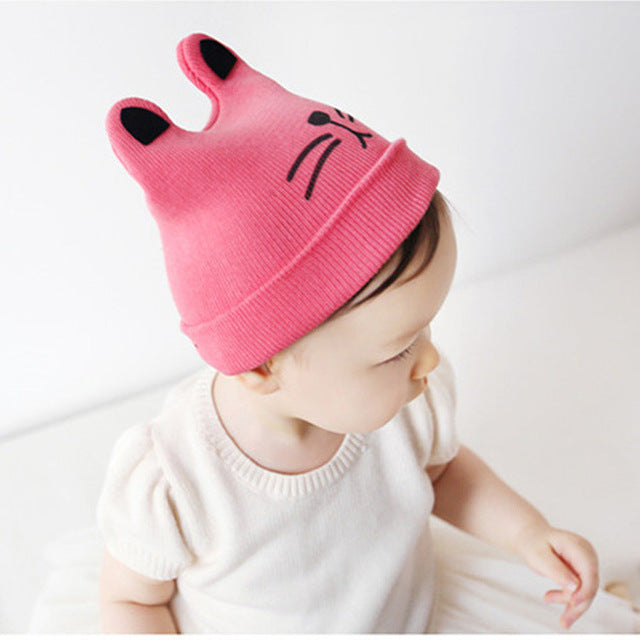 65fbe188590 2018 Autumn Winter 0-12months Baby Hat Cotton Beanie Cap Toddler Infant  Baby Girls and ...