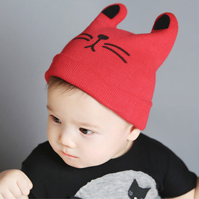 2018 Autumn Winter 0-12months Baby Hat Cotton Beanie Cap Toddler Infant  Baby Girls and Boys Knitted Hats GH119 Kids Hats   Caps 603a07b2b92
