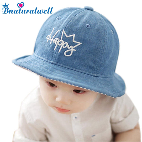 1f353df8439 Bnaturalwell Baby Boy Bucket Hat Panama Girls Sun Hat With Brim Kids Cotton  Summer Bucket Hat Baby Beach Cap Sun Bonnet H018D