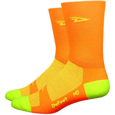 DeFeet Aireator Double Cuff Hi-Vis Orange