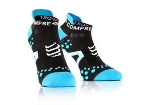 Compressport Run Socks Low V2.1 Black/Blue