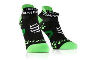 Compressport Run Socks Low V2.1  Black/Green