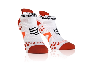 Compressport Run Socks Low V2.1  white/red