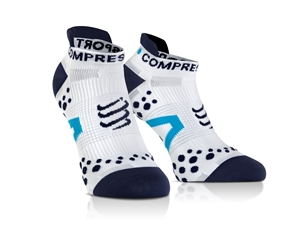 Compressport Run Socks Low V2.1 white/blue