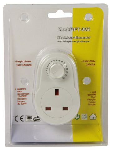 Plug in dimmer speed control