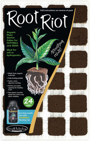 Root Riot trays of 24