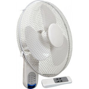 "Wall Fan 16"" Oscillating with remote"