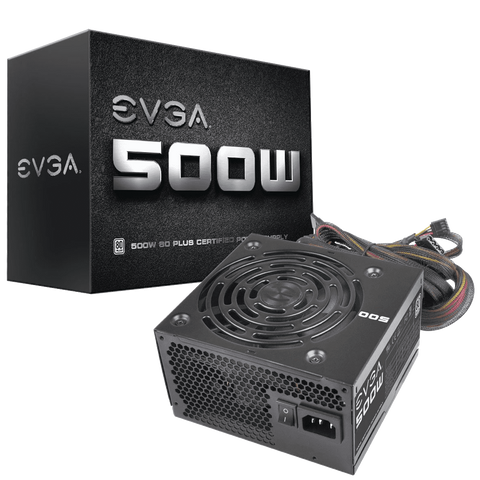 EVGA 500 W1 80+, 500W 3 Year Warranty Power Supply 100 W1 0500 KR