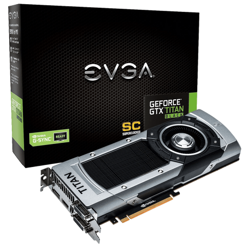 EVGA GeForce GTX TITAN BLACK Superclocked G Sync Support 6GB GDDR5 384bit 06G P4 3791 KR