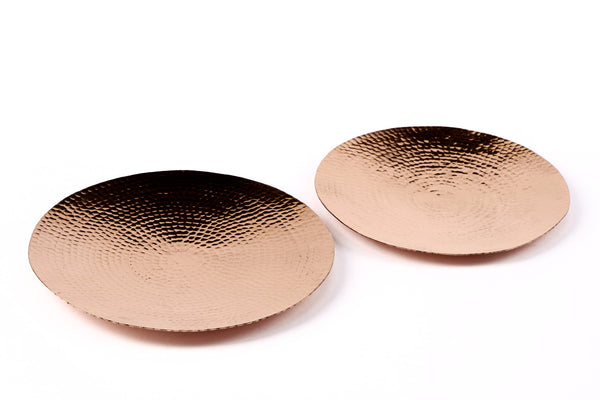 Anaya Platter Set - Copper (set of two) - Vilaasita  - 1