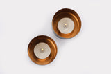 Niana T-light holder - Oxidised Copper (Set of two) - Vilaasita  - 2