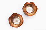 Lotus T-light Holder - Copper  (Set of two) - Vilaasita  - 2