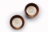 Noor T-light holder - Oxidised Copper (Set of two) - Vilaasita  - 2