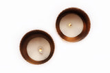 Noor T-light holder - Copper (Set of two) - Vilaasita  - 2